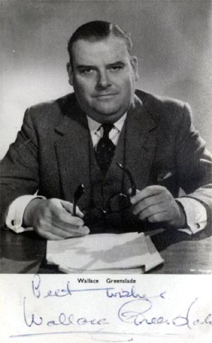 Signed photograph of Wallace Greenslade
